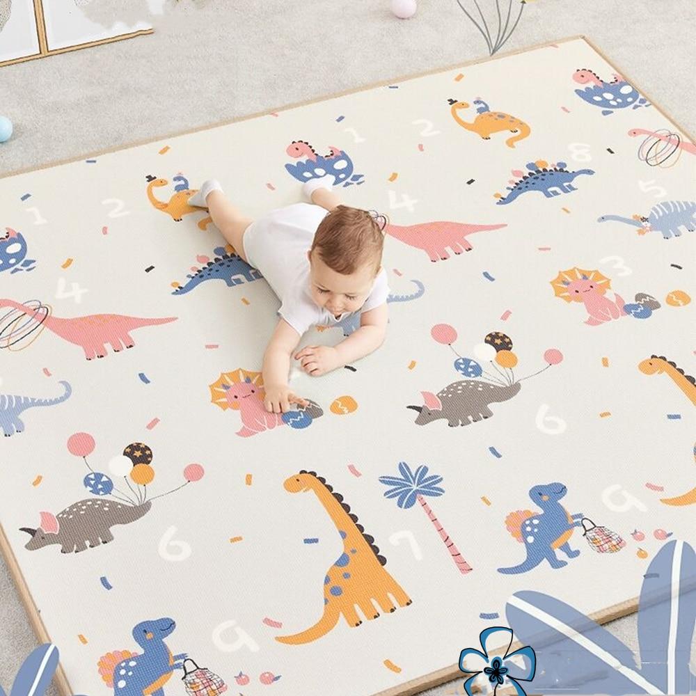 200*180cm * 1cm מתקפל קריקטורה תינוק לשחק מחצלת Xpe פאזל מחצלת ילדים באיכות גבוהה תינוק טיפוס כרית לילדים שטיח משחקי תינוק מחצלות