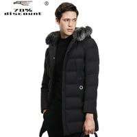 90% Duck Down Jakcet Men Real Fox Fur Collar Long Coat Winter Jacket Men Clothes 2020 Thick Parkas Mens Clothing MY099