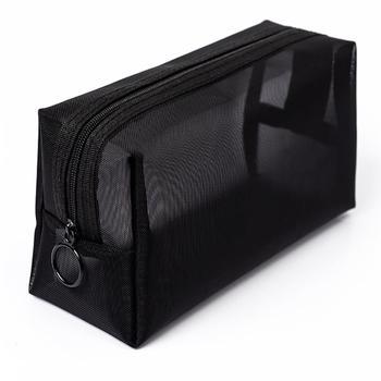 Kobiety przezroczysta kosmetyczka funkcja podróży torba na kosmetyki Zipper organizator przyborów do makijażu pokrowiec kosmetyczka kosmetyczka tanie i dobre opinie coofit Poliester CN (pochodzenie) polyester 10cm Stałe 18cm Sprawy kosmetyczne Moda 6275955