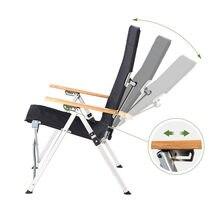 Cadeira dobrável ao ar livre três-velocidade ajustável longa volta cadeira de acampamento ao ar livre reclinável piquenique praia cadeira de relaxamento