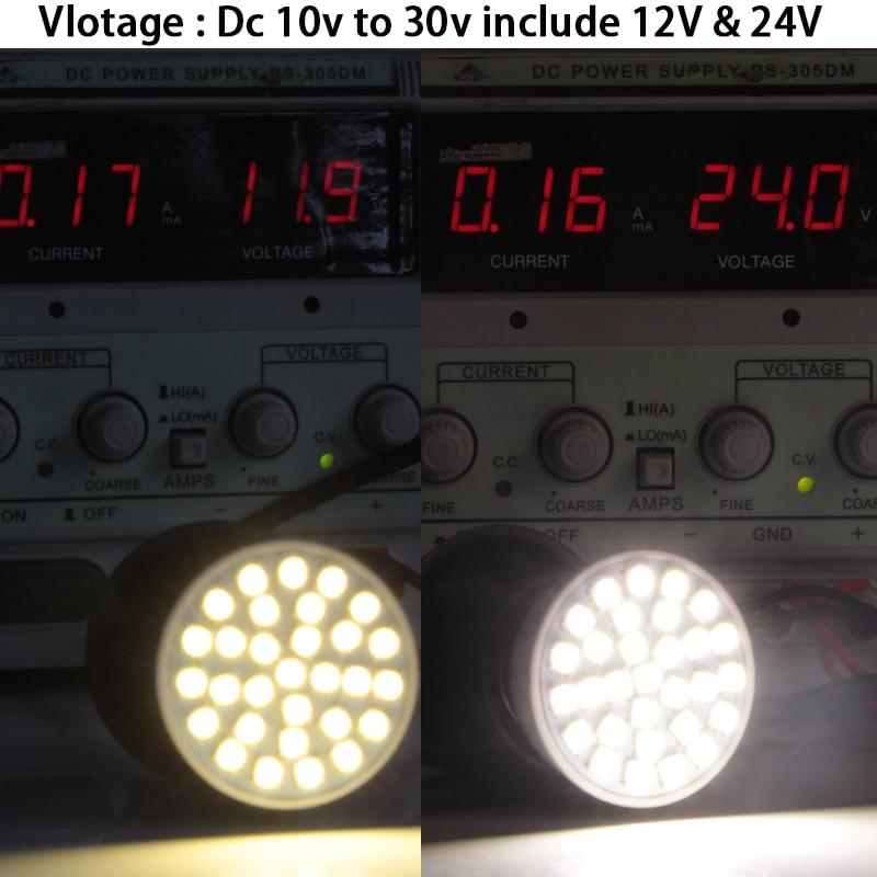 Купить с кэшбэком 2pcs gu 10 led spotlight 4W  Ac Dc 12v 24v bulb light smd 5050 30 leds Gu10 low voltage super home ceiling lamp 180 degree bulbs