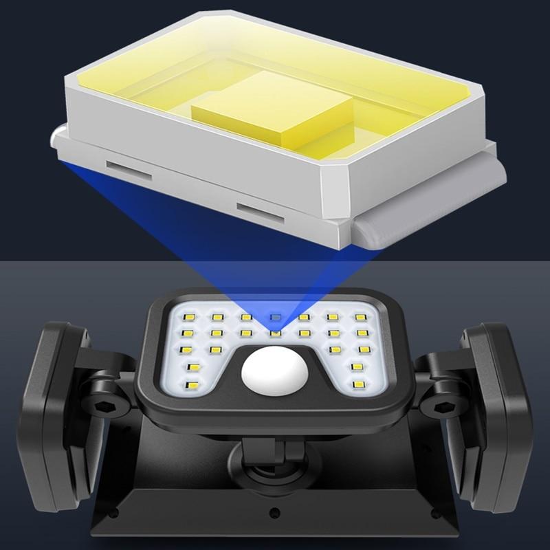 lowest price CHIZAO LED Solar Power Lamp PIR Motion Sensor Metal Solar Wall Light Outdoor Waterproof Garden Super Bright Energy Saving Lamp