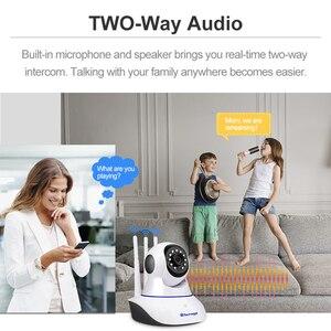 Image 2 - Techage 1080P Wireless IP Camera Baby Monitor Dome Indoor 2 Way Audio Video CCTV Wifi PT Camera Security Surveillance P2P Alert