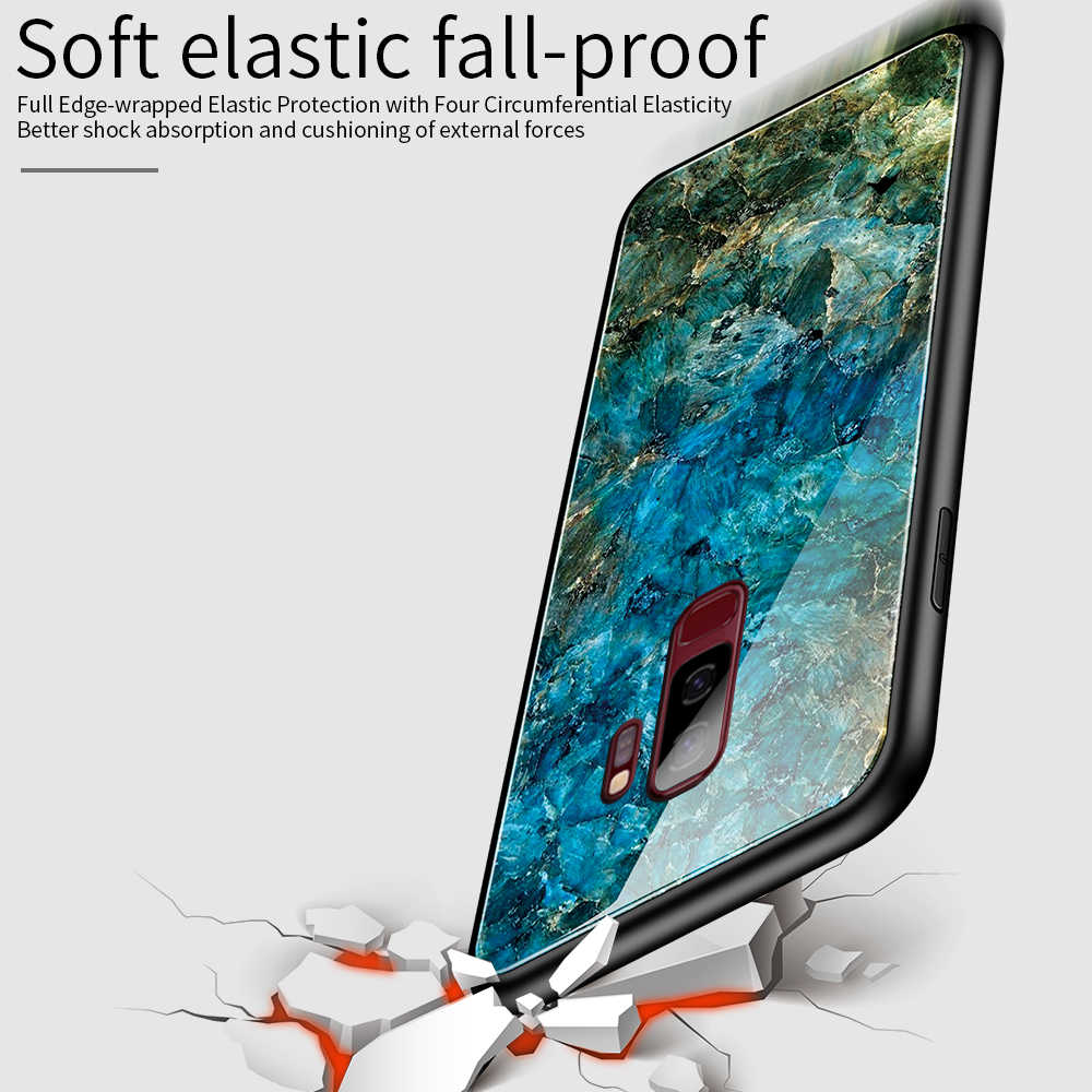 Чехол из закаленного стекла с градиентом для samsung Galaxy S9 S10 Plus A70 A50 звездное небо Чехлы для Note 9 A60 окрашенные космические чехлы