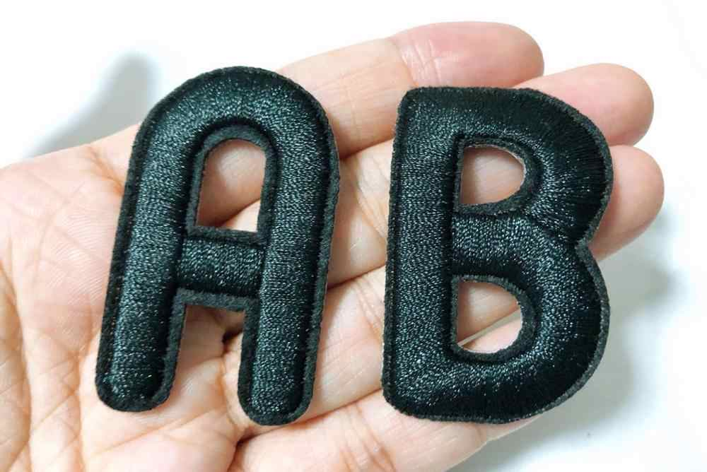 Apliques de letras bordados do alfabeto, letras de ferro em patches