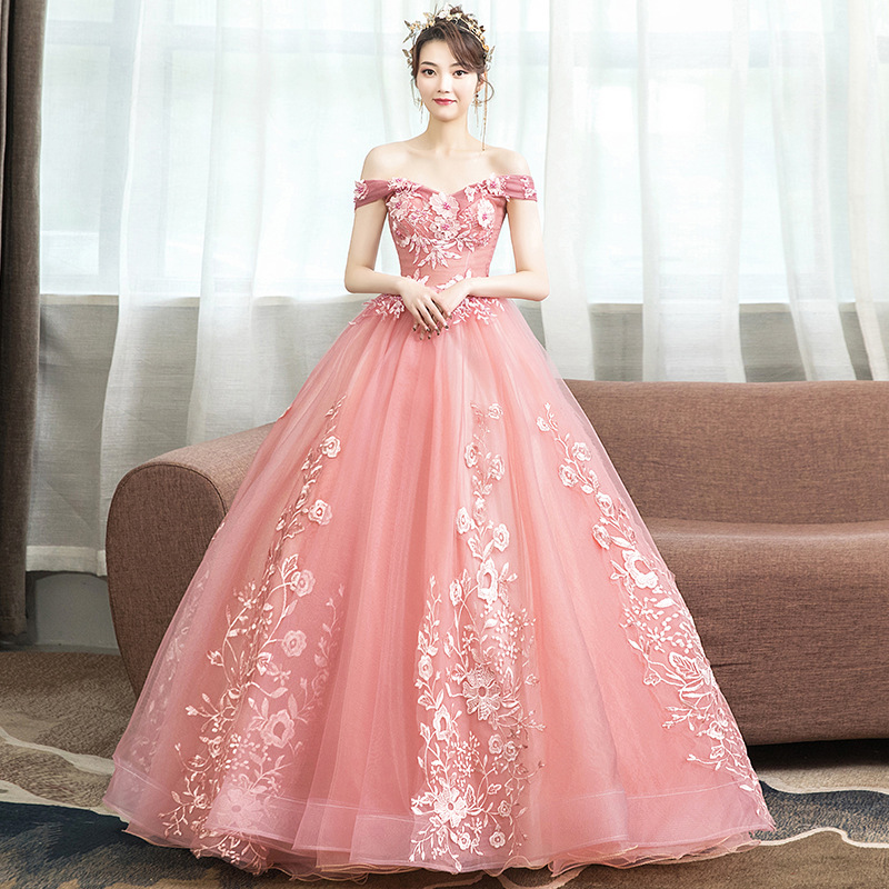 Off The Shoulder Pink Quinceanera Dresses Vintage Ball Gown Vestidos De Quinceaneras 2020 Sweet 16 Dresses Ball Gowns For Adults