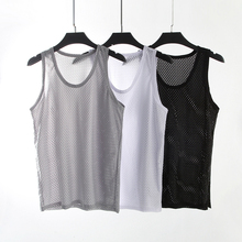 Quick dry Mens Underwear Sleeveless Tank Top Solid Muscle Vest Undershirts O-neck Gymclothing T-shirt men's vest