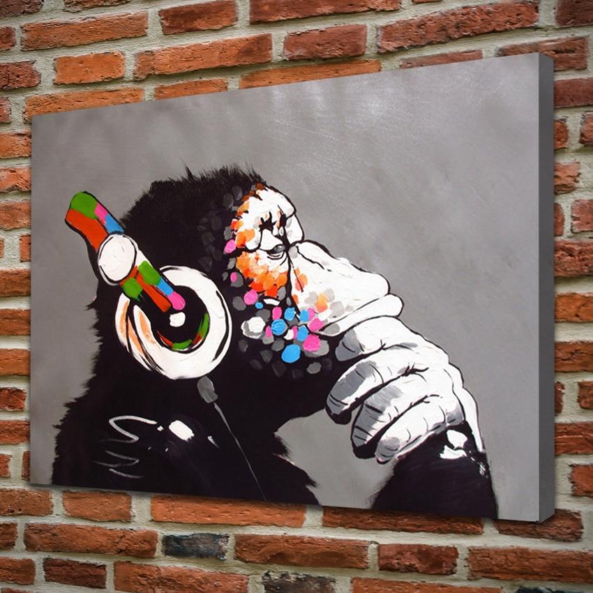 5 Piece Canvas Wall Art Urban Street Graffiti Oversized Prints Abstract Words