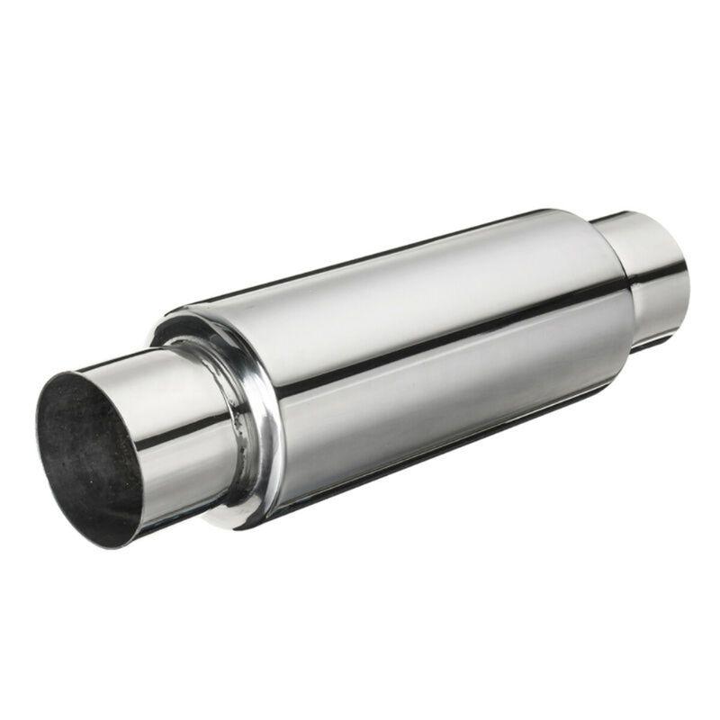 """5/""""  2.5/"""" x 18/"""" Universal Silencer Exhaust Back Box Stainless Steel"""