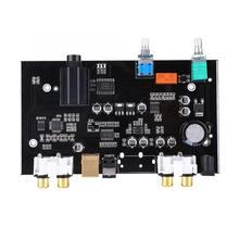 USB Decoder Board DC12V PCM5100 DAC Board Fiber Optic USB Amplifier Audio Volume Control Decoder Board lcd1602 soft control display cs8416 dual wm8741 dac decoder