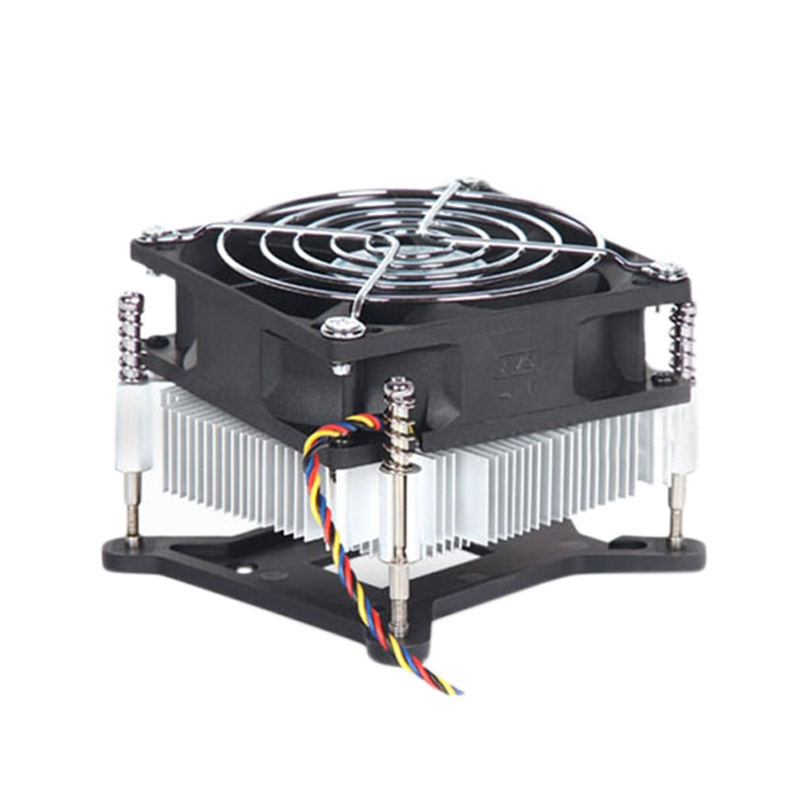 <font><b>CPU</b></font> <font><b>Cooler</b></font> Silence 4Pin Fan Copper Radiator Heatsink <font><b>Cooler</b></font> Support for Intel <font><b>115X</b></font> Series 1150 1155 1156 1151 image