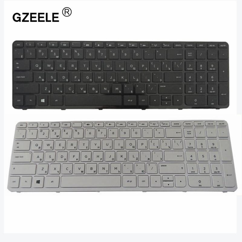 GZEELE Russian Laptop Keyboard For HP Pavilion 710248-251 9Z.N9HSQ.00R R65 AER65700110 V140546AS1 RU BLACK Frame Keyboard