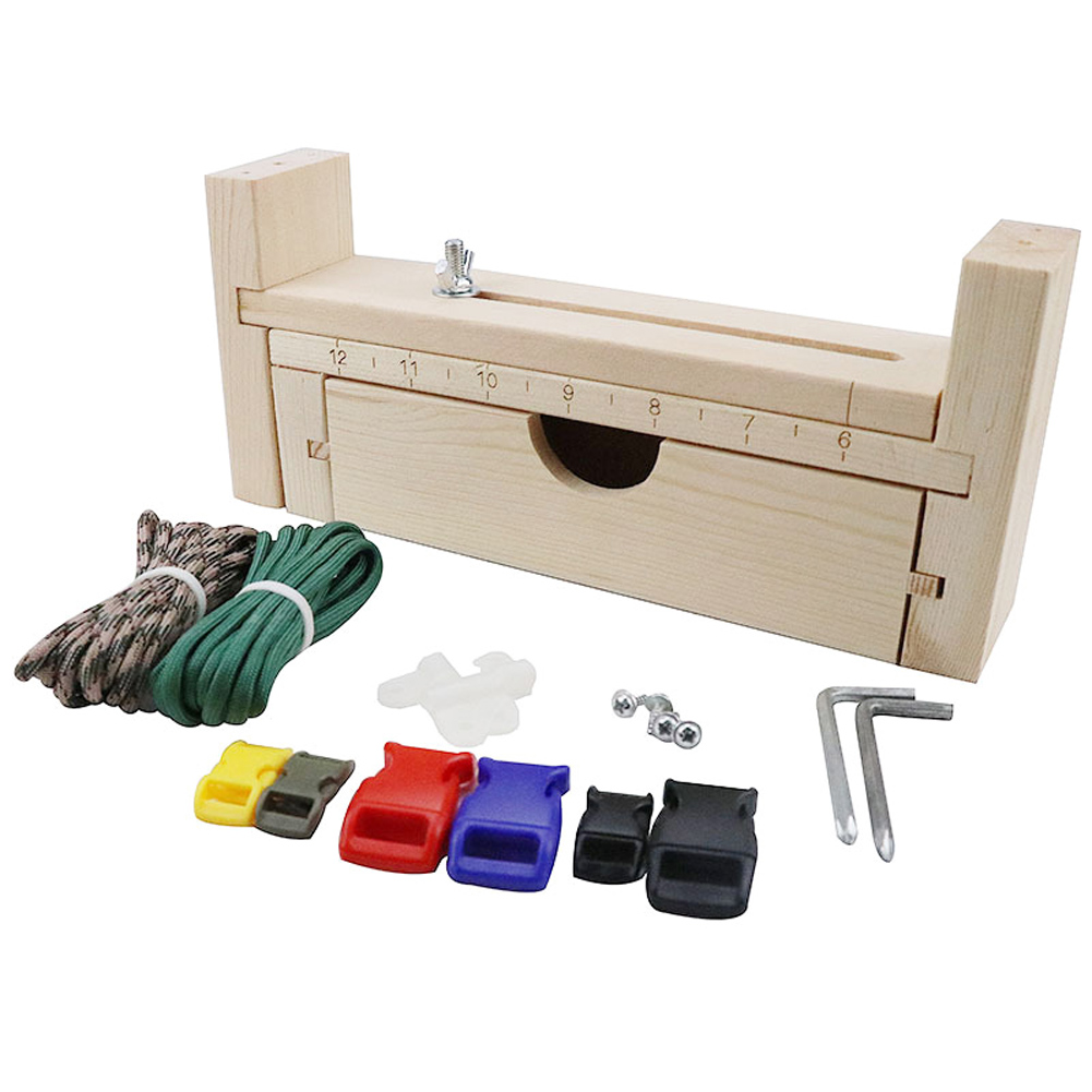 1pcs DIY Wood Paracord Jig Bracelet Maker Adjustable Weaving Craft Maker Bracelet Knot Tool Bracelet Wristband Knitting Tool