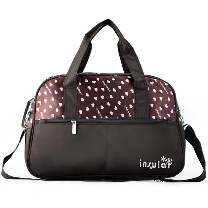 Insular 10032 Simple One-Shoulder Crossbody Multi-Function Mummy Bag Multi-Function Large Capacity Diaper Bag