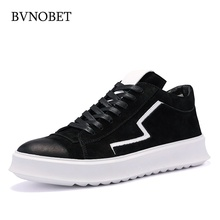 BVNOBET Genuine Leather Casual Shoes Men Breathable Classic Male Krasovki Summer Platform Chaussure De Luxe