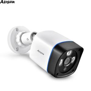 Image 1 - AZISHN 1080P IP המצלמה onvif זיהוי תנועת RTSP חיצוני עמיד למים מקורה וידאו אבטחת מעקב Bullet 48V POE טלוויזיה במעגל סגור מצלמת