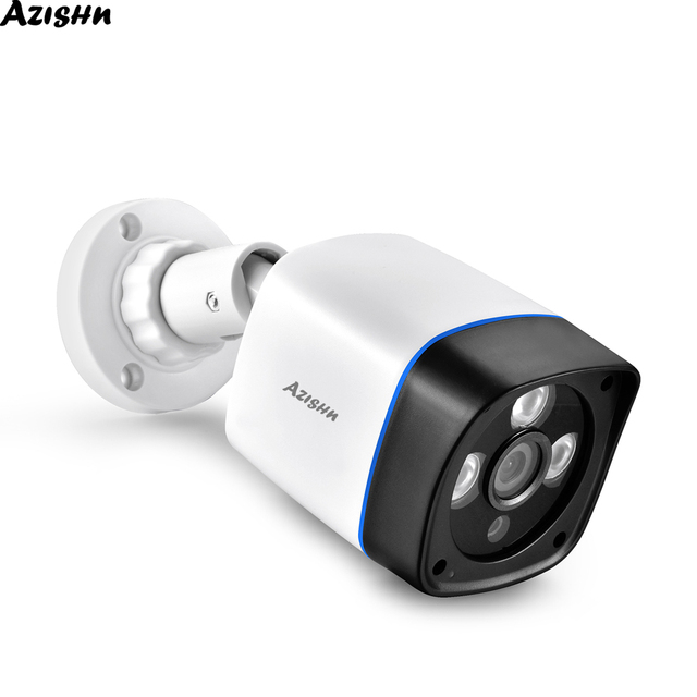 AZISHN 1080P IP המצלמה onvif זיהוי תנועת RTSP חיצוני עמיד למים מקורה וידאו אבטחת מעקב Bullet 48V POE טלוויזיה במעגל סגור מצלמת