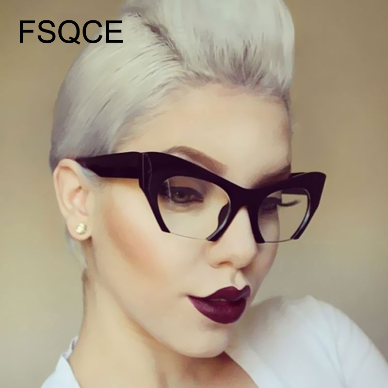 Steampunk Sunglasses Newest Semi Rimless Women Brand Designer Clear Lens Sun Glasses For Women Fashion Sunglass Vintage oculos
