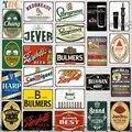 【YZFQ 】Beer бренд Оловянная табличка металлический Винтаж паб стена украшение дома Бар Кухня Ретро Ресторан Декор 30X20CM DU-9936A