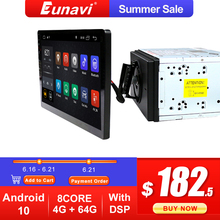 Eunavi 2 din 10.1 inch DSP TDA7851 Universal Android 10 Car Multimedia Radio player 2 din GPS touch screen Bluetooth wifi NO DVD