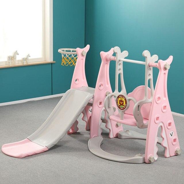 Children Slide and Swing Combination kids Indoor Playground Kindergarten Baby Outdoor Plastic Multifunctional Slide Swing Toys 2