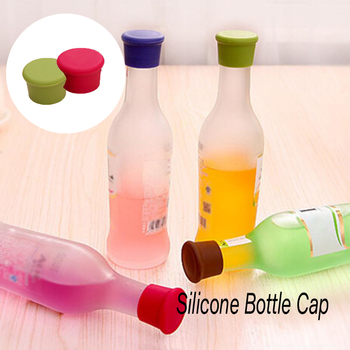 1Pcs Reusable Wine Beer Cover Bottle Cap Silicone Stopper Beverage For Home Bar Cover Barware Soda Leak Free Champagne Closures image