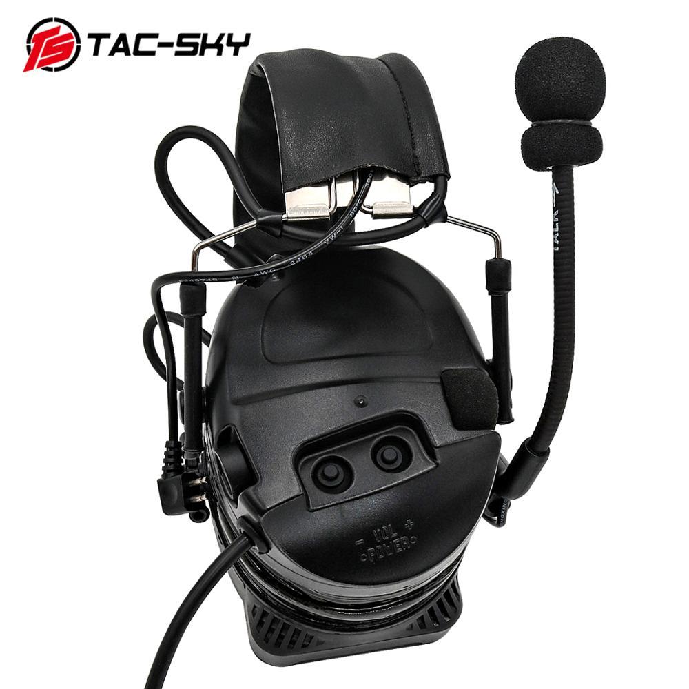 Купить с кэшбэком TAC-SKY outdoor sports hearing defense noise reduction pickup military shooting tactical headset COMTAC I silicone earmuffs BK