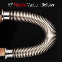 Flexbile KF16 высоковакуумный сильфон из нержавеющей стали SS304 формовочная волна Быстрый гибкий вакуумный шланг 100 мм-2000 мм