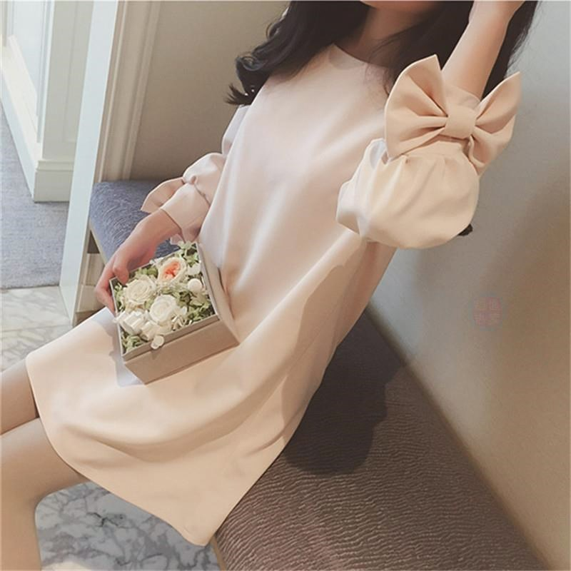 Pregnant Women Spring And Autumn Full Body Dress 2018 Season New Style Spring Clothing Mid-length On Clothes Women's Base Shirt