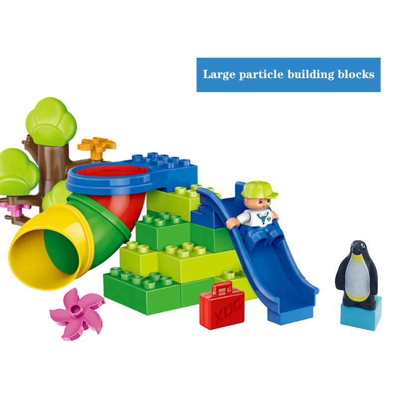 Diy Building Blocks Marble Run Tube Curve Straight Pipe Accessories Playground Compatible With Duploed Bricks Toys For Children