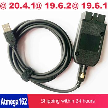 Kabel interfejsu USB OBD COM Can V2 19 6 2 v2 19 6 1 OBDII 16pin HEX dla audi fotel vw skoda niemiecki duński holenderski wielojęzyczny tanie i dobre opinie cdp tcs 15inch 23inch plastic Kable diagnostyczne samochodu i złącza 0 2kg 20inch