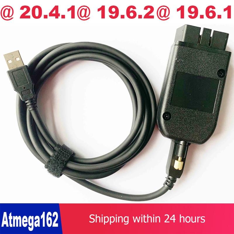 OBD COM Can USB кабель интерфейса V2 19.6.2 v2 19.6.1 OBDII 16pin HEX для audi vw seat skoda немецкий/Датский/голландский многоязычный