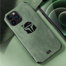 Hyso Fashion – Coque de Protection dobjectif Unique en flanelle souple, étui en cuir PU pour iPhone 12 11 Pro Max