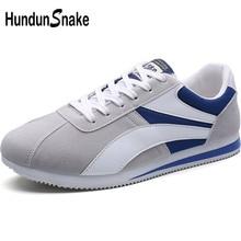 Hundunsnake Grey Suede Men Sneakers Men Sport Shoes Men's Ru