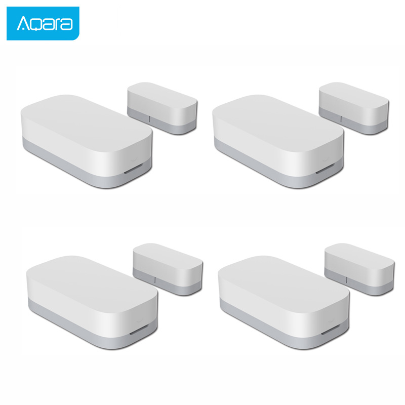 Aqara Zigbee Door Window Sensor Wireless Connection Smart Mini Door Window Burglar Alarm Work With Android IOS App Control Home