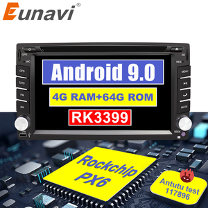 Image 1 - Eunavi Universal 2Din Android 9.0 เครื่องเล่นดีวีดีวิทยุเครื่องเล่นมัลติมีเดีย Autoradio สเตอริโอ IPS TDA7851 GPS 4GB 64GB