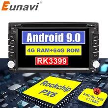 Eunavi Đa Năng 2Din Android 9.0 Xe Ô Tô DVD Radio Đa Phương Tiện Autoradio Stereo Đầu Đơn Vị IPS TDA7851 Dẫn Đường GPS 4GB 64GB