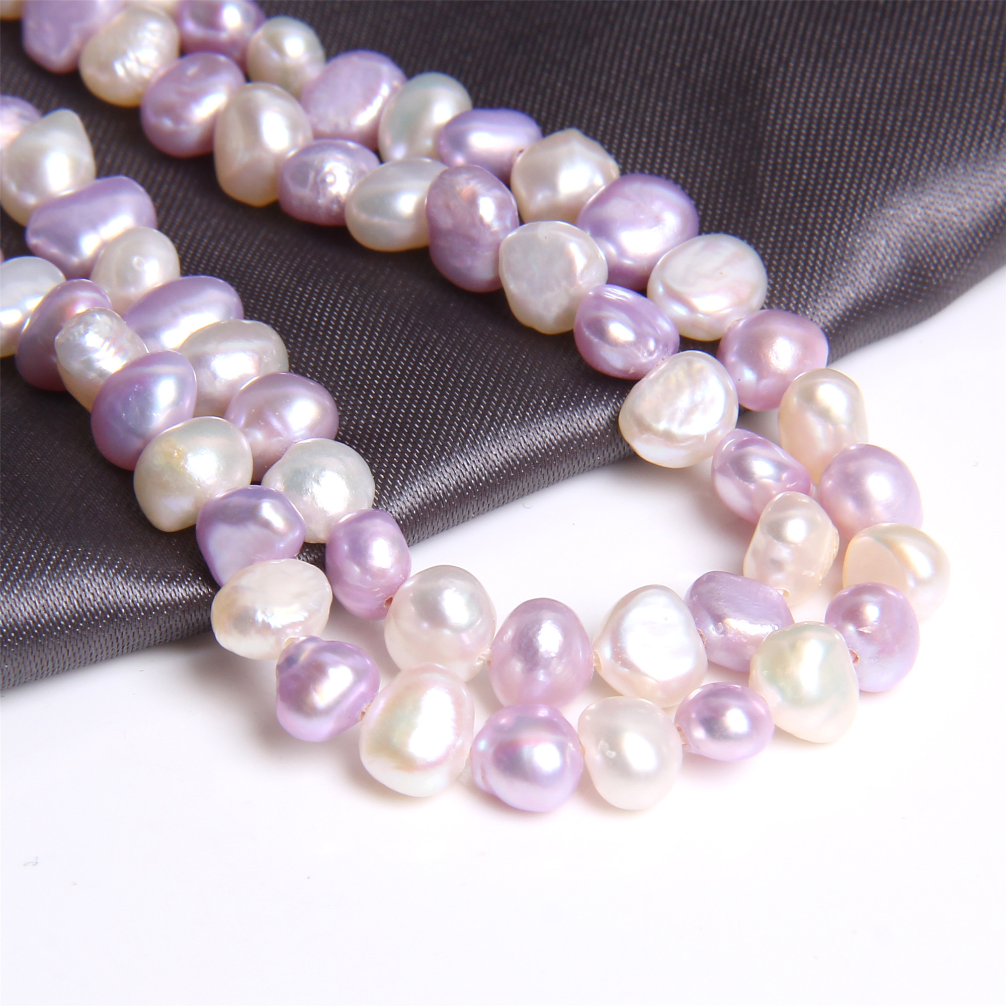 5-6mm Natural Baroque Pearls Multi Color Real Freshwater Pearl Potato Purple White Mix Loose Perle Beads For Jewelry Making 14