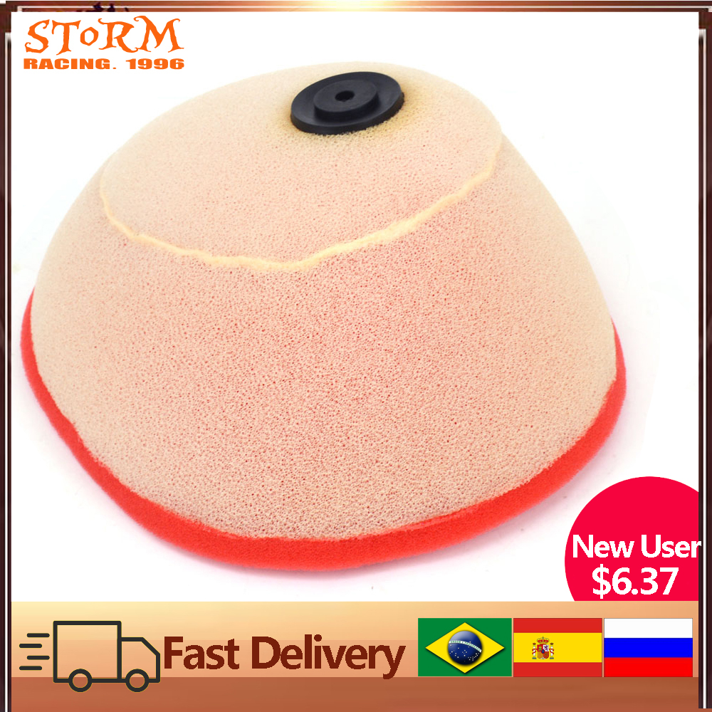 Dual Foam Air Cleaner Filter For HONDA CRF250R CRF 250R <font><b>2010</b></font> 2011 2012 2013 <font><b>CRF450R</b></font> 450R 09 10 11 12 2009 Motorcross image