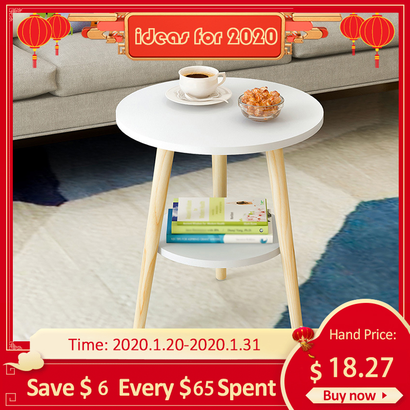 Hot Offer 3331 Creative Nordic Wood Low Round Coffee Table
