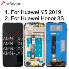 Tela trafalgar para huawei y5, tela lcd, para huawei y5 2019, honor 8s, touch, com moldura, 2019 tela AMN LX1 AMN LX9