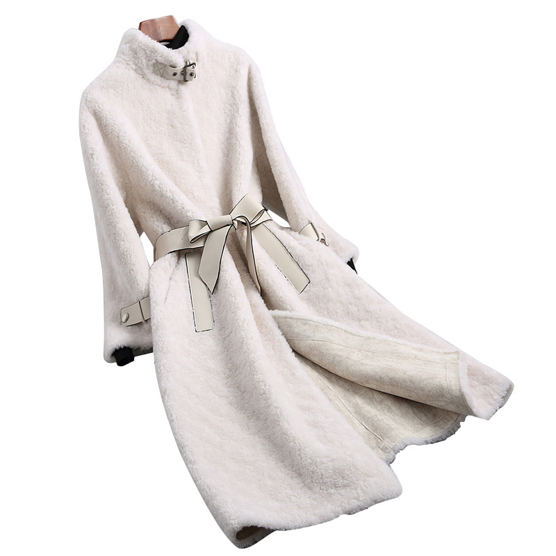 Real Fur Coat Wool Jacket Korean Vintage Autumn Winter Wool Coat Women Clothes 2020 Suede Lining Abrigo Mujer 896005 ZT2862