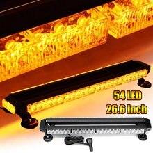Lampe stroboscopique universelle pour voiture, Double face, ambre, lampe de travail, barre 54, voyant d'avertissement pour véhicule, assemblage étanche