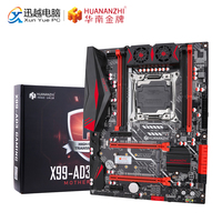 HUANANZHI X99-AD3 REV3.0 마더 보드 Intel X99 LGA 2011-3 모든 시리즈 DDR3 RECC128GB M.2 PCI-E NVME NGFF ATX 서버 메인 보드