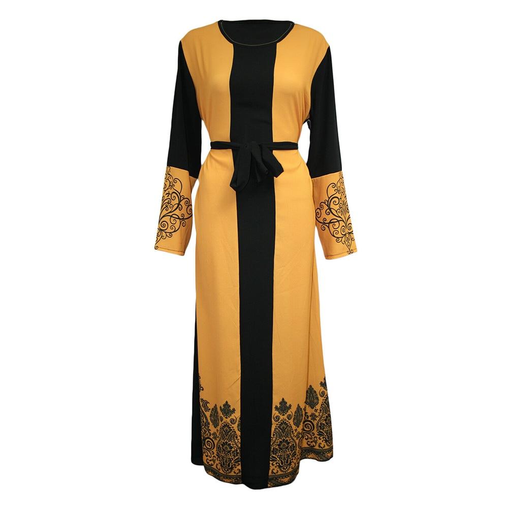Ramadan Eid Mubarak Kaftan Abaya Dubai Turkey Muslim Hijab Dress Caftan Islamic Clothing Abayas For Women Turkish Dresses Islam(China)