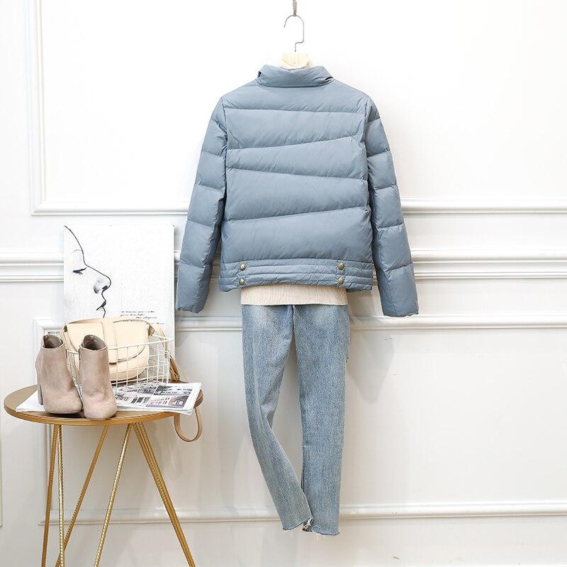 Short Ultra Light Down Jacket Women Autumn Winter White Duck Down Coat Puffer Jackets Daunenjacken Damen SM1902 KJ3615