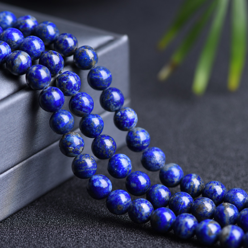 Genuine Natural Lapis Lazuli Stone Beads 4/6/8/10/12MM Round Loose <font><b>Afghanistan</b></font> Lapis Stone Beads For Jewelry Making DIY image