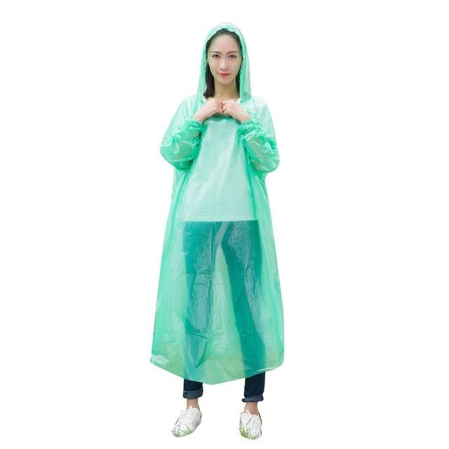 10PC плащ женский дождевик женский blouse jetable дождевик мужской raincoat impermeable rain coat Unisex Disposable Portable Z4
