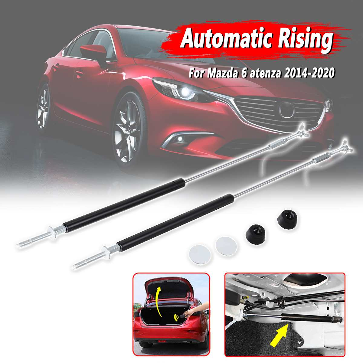 2Pcs Rear Tailgate Boot Automatic Gas Struts Spring Support Lifter For Mazda 6 Atenza 2014-2020(China)