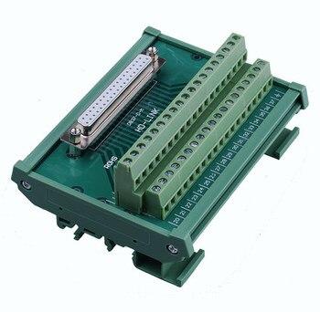 37 pinos db37 D-SUB fêmea macho sinais terminal pcb breakout módulo conector